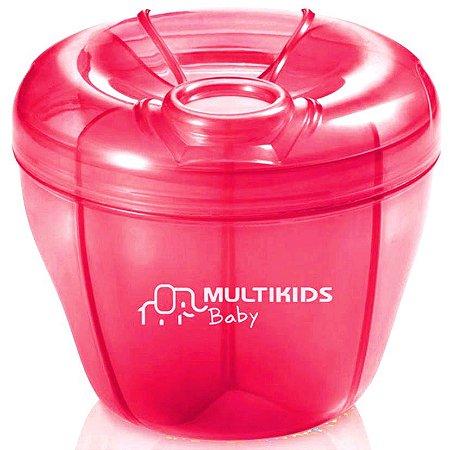 Porta Leite em Pó Rosa - Multikids