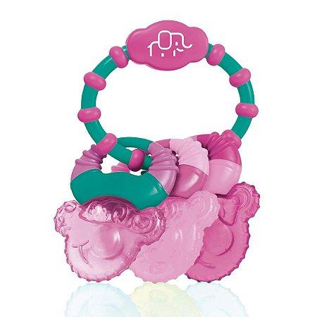 Mordedor Resfriável Com Água Cool Rings Rosa - Multikids