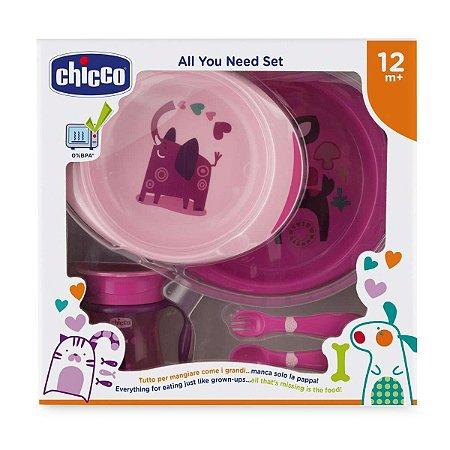 Kit de alimentação (12m+) Rosa - Chicco