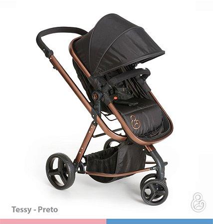 Carrinho de Bebê Tessy Preto - Galzerano