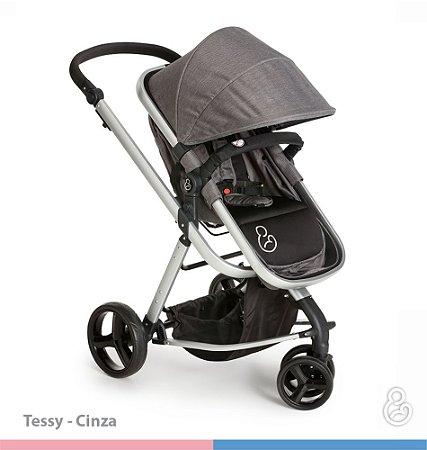 Carrinho de Bebê Tessy Cinza - Galzerano