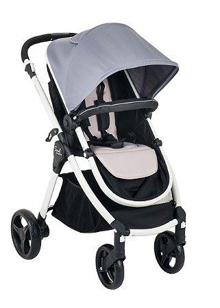 Carrinho de Bebê Soul Gray Black - Burigotto
