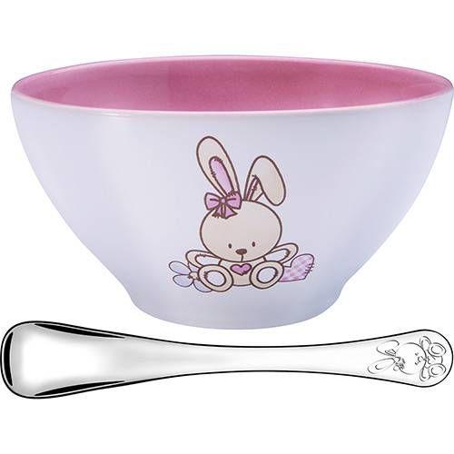 Jogo de porcelana para criança com 2 peças rosa - Tramontina