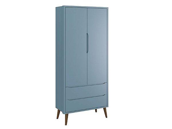 Roupeiro 2 Portas Azul Theo - Reller