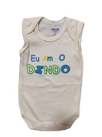 BODY EU AMO O DINDO BEGE - GENTE MIUDA