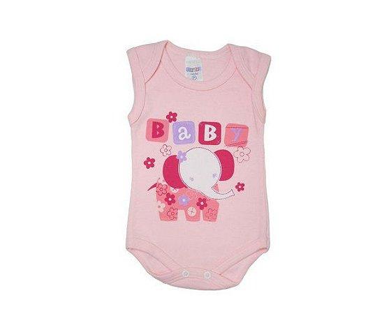 BODY BABY ROSA REGATA - GENTE MIUDA