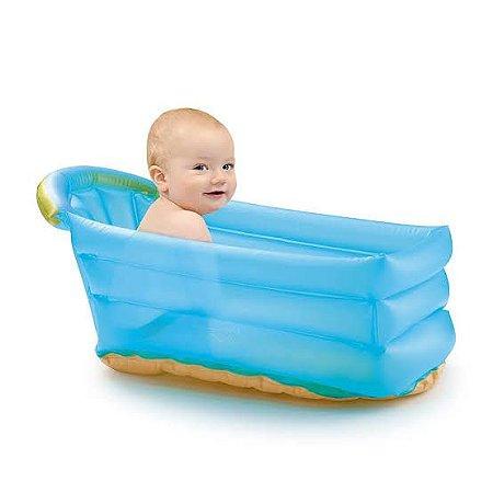 Banheira Inflável Bath Buddy Azul - Multikids