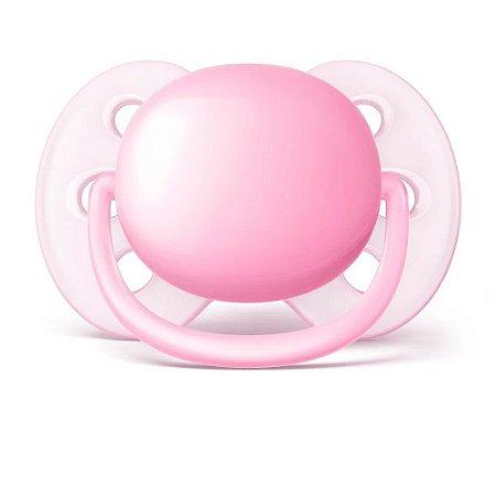 Chupeta Ultra Soft 6 a 18 rosa - Philips Avent