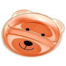 Prato raso com divisórias Urso - Multikids baby