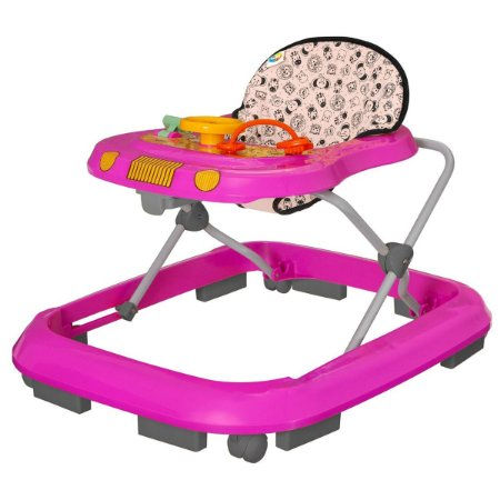 Andador Infantil De Bebê Safari Rosa - Tutty Baby