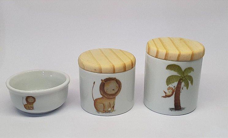 Kit Higiene Porcelana Safari/Madeira - Porcelana Regis
