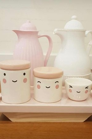 Kit Higiene Porcelana Sorriso Rosa - Porcelana Regis