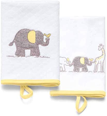 Kit com 2 Babinhas Girafante Amarelo - Hug