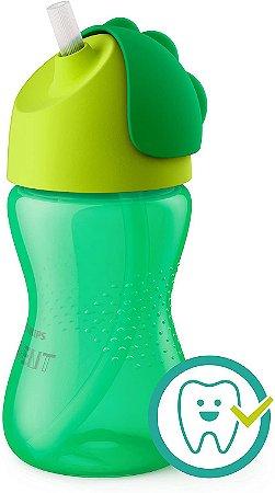 Copo Dinossauro com Canudo Verde - Philips Avent