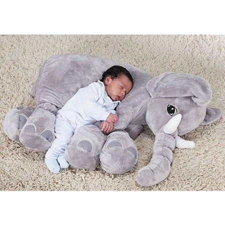 Elefante Baby Cinza G - Bichos de Pelúcia