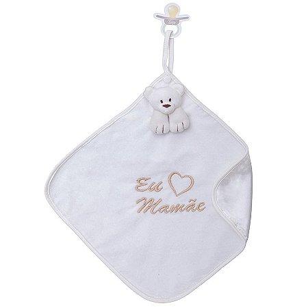 Blanket Cetim Eu Amo Mamãe Cru - Zip Toys