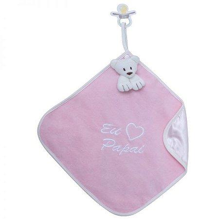 Blanket Cetim Eu Amo Papai Rosa - Zip Toys