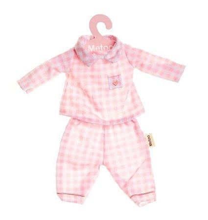 Roupa de Boneca Metoo - Pijama Rosa