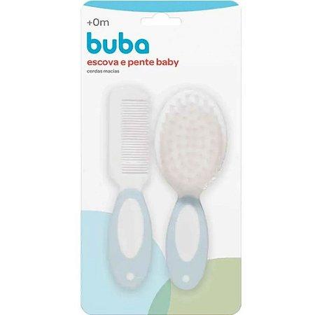Escova e Pente Baby Azul - Buba
