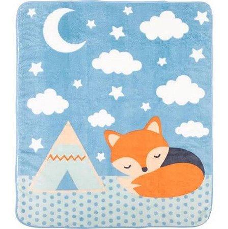 Cobertor Raposa Azul Microfibra - Incomfral