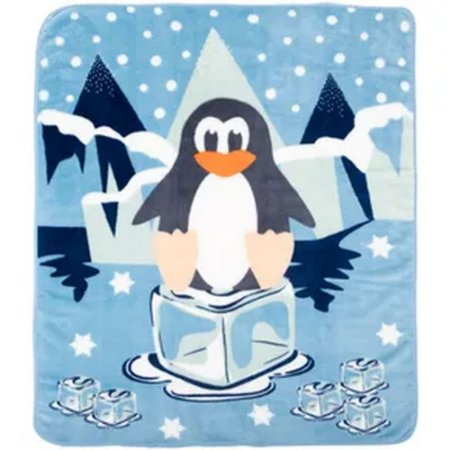Cobertor Pinguim Azul Microfibra - Incomfral