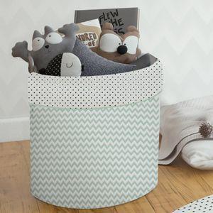 Cesto Organizador para Brinquedos Chevron Verde - Papi Baby