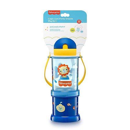 Copo com Porta Snack Playfyl Azul - Multikids