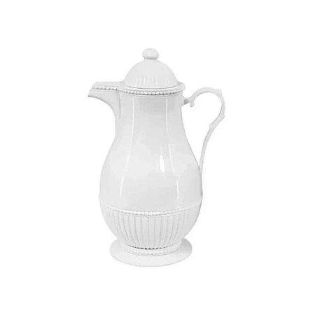 Garrafa Térmica de Plástico Vintage Branco 1L - Lyor
