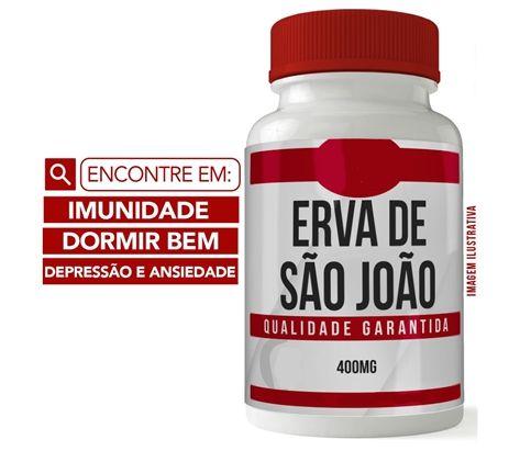 ERVA DE SÃO JOÃO 400MG 60 CÁPSULAS - DEPRESSÃO E ANSIEDADE