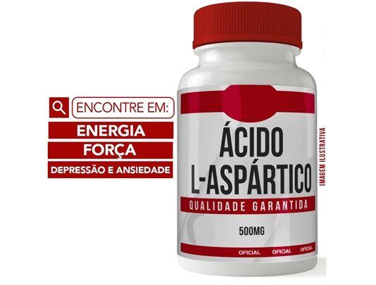 ÁCIDO L- ASPÁRTICO 500MG 60 CÁPSULAS - ENERGIA E FORÇA