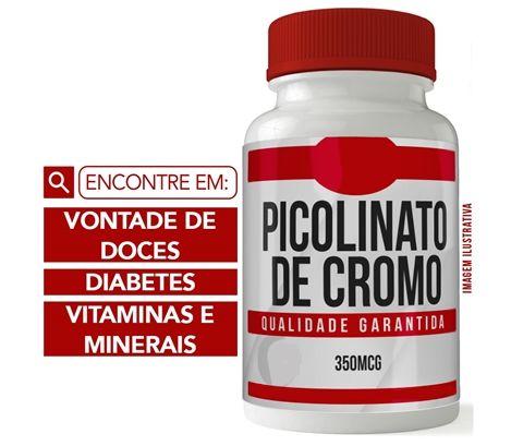 PICOLINATO DE CROMO 350 MCG