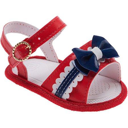Sandália Pimpolho Recém Nascido Menina Vermelho