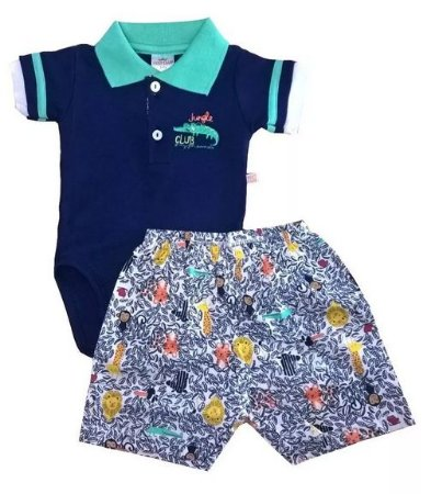 Conjunto Body Pólo Bebe E Short Best Club