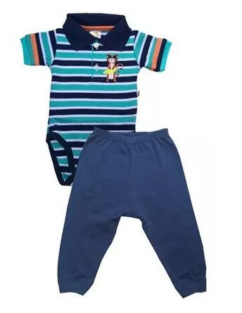 Conjunto Body Polo Best Club Tigre Azul