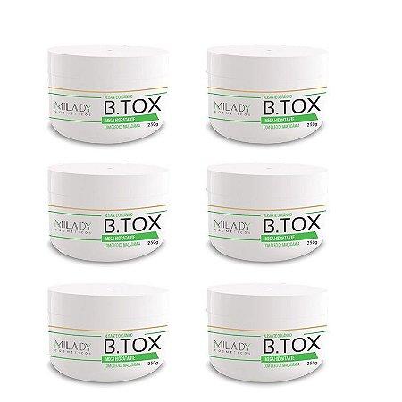 Atacado - Btox Alisante Organico 250g Milady Cosméticos 6 unidades