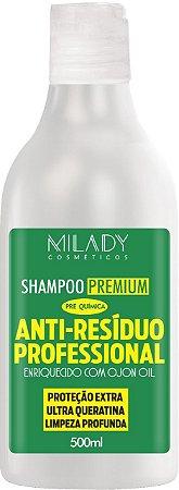 Shampoo Premium Anti Resíduo 500ml Milady Cosméticos