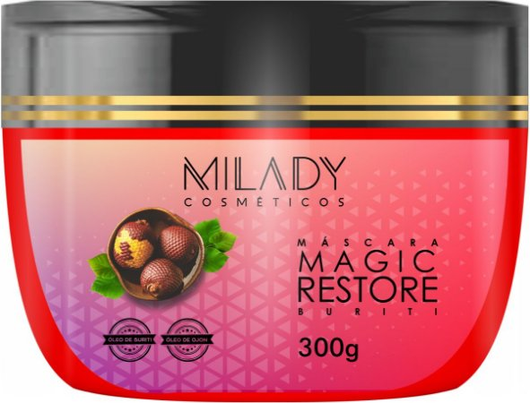 Máscara Magic Restore Buriti 300g Milady Cosméticos