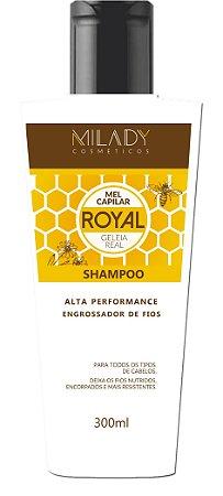 Shampoo Royal Mel Capilar Geléia Real 300ml Milady Cosméticos
