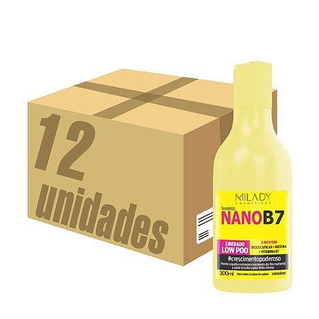Caixa 12 unidades - Shampoo NanoB7 Milady Cosméticos