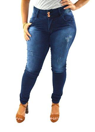 1296be5ae Cazzadella Moda Plus Size - Calça Jeans Plus Size Destroyed Rasgado ...