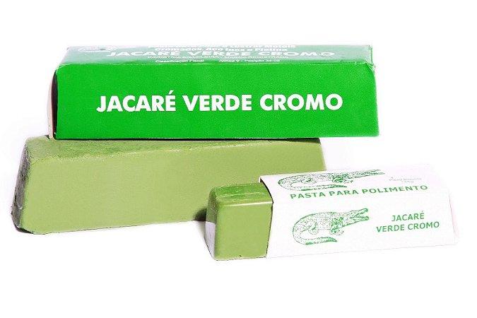 PASTA JACARÉ VERDE CROMO 145G