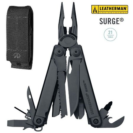 LEATHERMAN SURGE BLACK ALICATE MULTITOOL - 831333