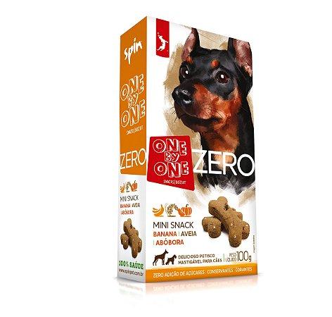 Mini Snack ZERO Spin Pet - 100g - Banana + Abobora + Aveia