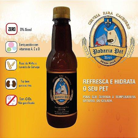 Cerveja para cachorro sabor carne  340Ml - Garrafa pet