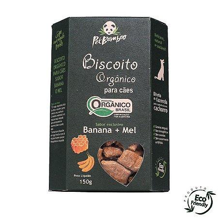 Biscoitos orgânico All Love para cães banana e mel