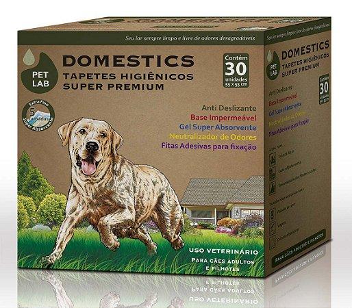 PetLab Domestics - Tapetes Higiênicos para Cães - Caixa com 30 unidades