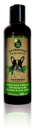 PetLab Shampoo para Cães com Pelos Curtos Alecrim e Aloe Vera