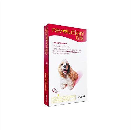 Revolution 12 Vermelho Bis 120Mg 1ml Cães