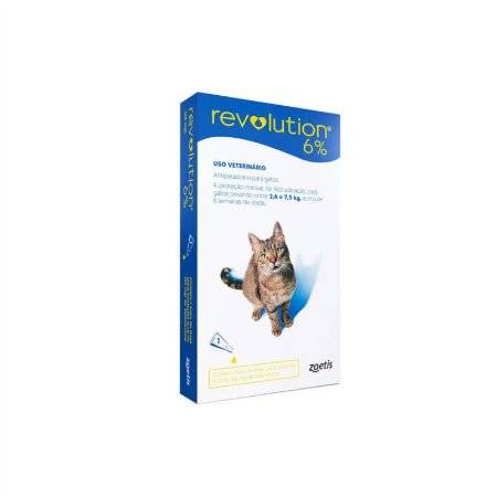 Revolution 6 Azul  Bis 45 Mg  0,75 Ml Gatos