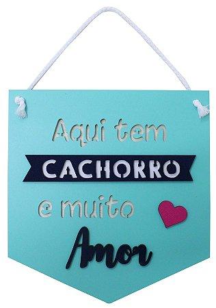 PLAQUINHA CACHORRO E MUITO AMOR